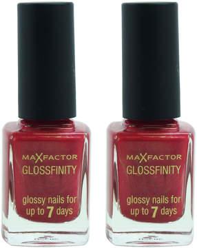 Max Factor Dusky Rusk Glossfinity Nail Polish - Set of Two