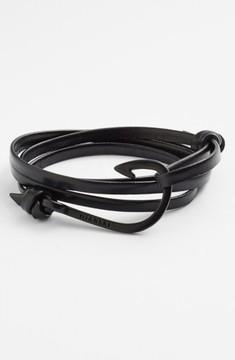 Miansai Men's 'Noir' Hook Leather Bracelet