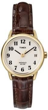 Timex Womens Easy Reader T20071 Brown Strap Watch