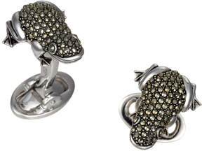 Jan Leslie Pavé Marcasite Frog Cuff Links