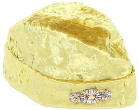 Federica Moretti Crushed Velvet Hat W/ Brooch