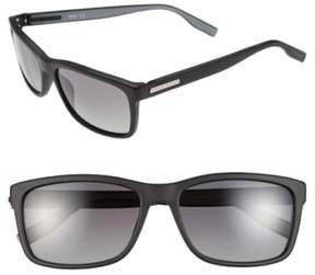 BOSS Men's 57Mm Polarized Retro Sunglasses - Matte Black