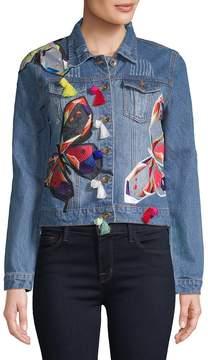 Bagatelle Women's Patchwork Denim Jacket