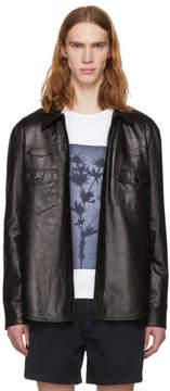 Acne Studios Black Leather Locran Shirt Jacket