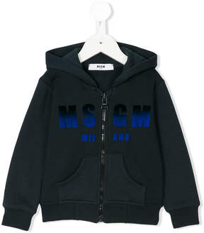 MSGM dégradé logo print hoodie