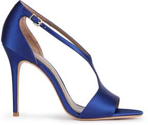 Reiss Maxine Satin Satin Open-Toe Sandals