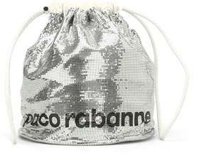 Paco Rabanne Women's 16a1502ol1messi Silver Leather Shoulder Bag.