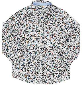Paul Smith Kids' Hole Punch-Print Cotton Shirt