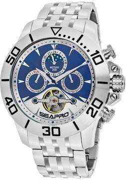 Seapro Sea-Pro Montecillo Mens Silver Tone Bracelet Watch-Sp5136