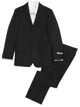 DKNY Boy's Black Wool Suit