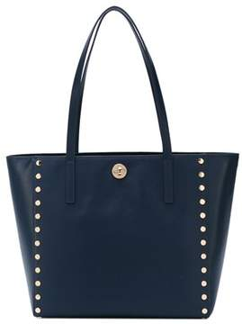 Michael Kors Women's Blue Leather Tote. - BLUE - STYLE