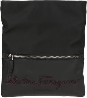 Salvatore Ferragamo Logo Embroidered Shoulder Bag