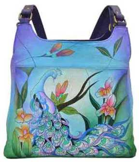 Women's ANNA by Anuschka Hand Painted Medium Hobo 7001