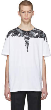 Marcelo Burlon County of Milan White and Grey Camouflage Wing T-Shirt