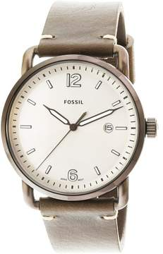 Fossil The Commuter Cream Dial Men's Leather Watch FS5341