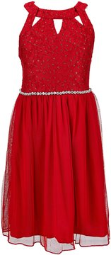 Xtraordinary Big Girls 7-16 Embellished-Waist Cutout Dress