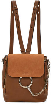 Chloé Tan Small Faye Backpack