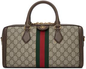 Gucci Beige Ophidia GG Supreme Bowling Bag