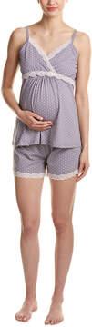 Belabumbum Maternity Dottie 2Pc Pajama Set