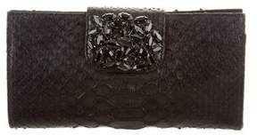 Carlos Falchi Snakeskin Embellished Bag