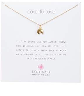 Dogeared 14K Yellow Gold Plated Sterling Silver 'Good Fortune' Cookie Pendant Necklace