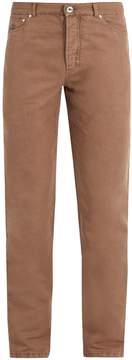 Brunello Cucinelli Slim-leg linen-blend trousers