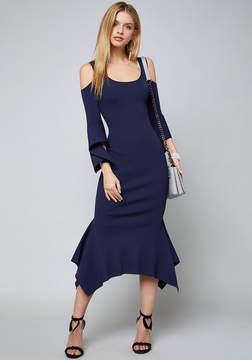 Bebe Cold Shoulder Knit Dress