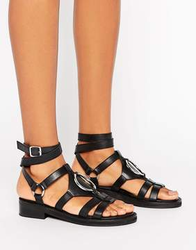 Asos FOREMOST Leather Flat Sandals