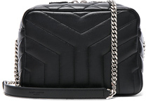 Saint Laurent Small Loulou Top Handle Bowling Bag in Black. - BLACK - STYLE