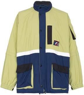 Balenciaga padded reflective parka coat