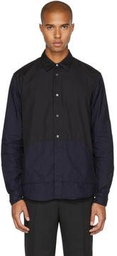 McQ Indigo and Black Darkbrook Shirt