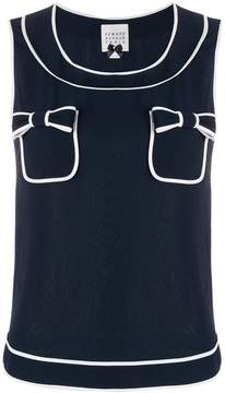 Edward Achour Paris double bow tank top