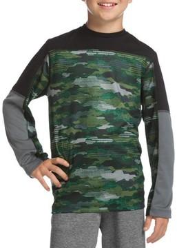 Hanes SPORT Boys' Long Sleeve Pieced Performance T-Shirt
