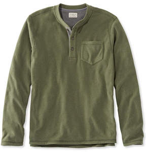 L.L. Bean L.L.Bean Fleece Layering Henley, Long-Sleeve Slightly Fitted