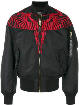 Marcelo Burlon County of Milan embroidered wing bomber ajcket