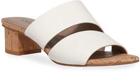 Donald J Pliner Margret Two-Band Leather Slide Sandals