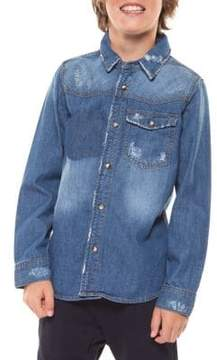 Dex Boy's Denim Collared Shirt