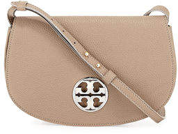 Tory Burch Jamie Leather Clutch Bag - FRENCH GRAY - STYLE