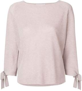 Le Tricot Perugia ribbed knit tie sleeve sweater