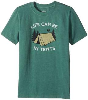 Life is Good Life Can Be In Tents Crusher Tee Boy's T Shirt