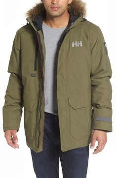 Helly Hansen Men's Svalbard Waterproof Parka With Faux Fur Trim