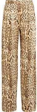 ADAM by Adam Lippes Printed Wool-twill Wide-leg Pants - Leopard print