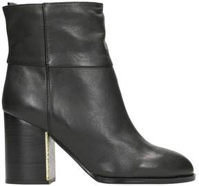 Jil Sander Navy Black Leatherslip On Ankle Boots