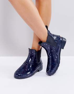 Hunter Refined Constellation Print Chelsea Wellington Boots
