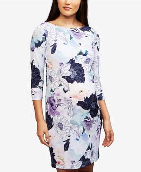 A Pea in the Pod Maternity Floral-Print Sheath Dress