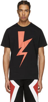 Neil Barrett Black Abstracted Bolt T-Shirt