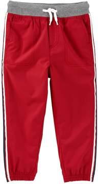 Osh Kosh Toddler Boy Striped Red Active Pants