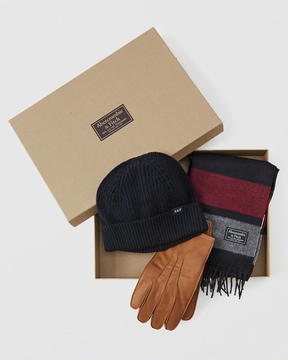 Abercrombie & Fitch Scarf###Beanie & Glove Gift Set