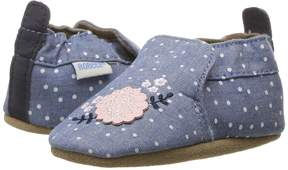 Robeez Chambray Bouquet Soft Sole Girl's Shoes