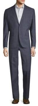 Kenneth Cole Double Windowpane Wool Suit